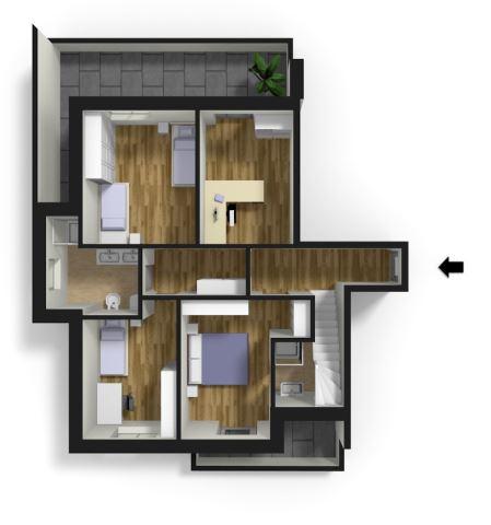 attico in vendita - bolzano